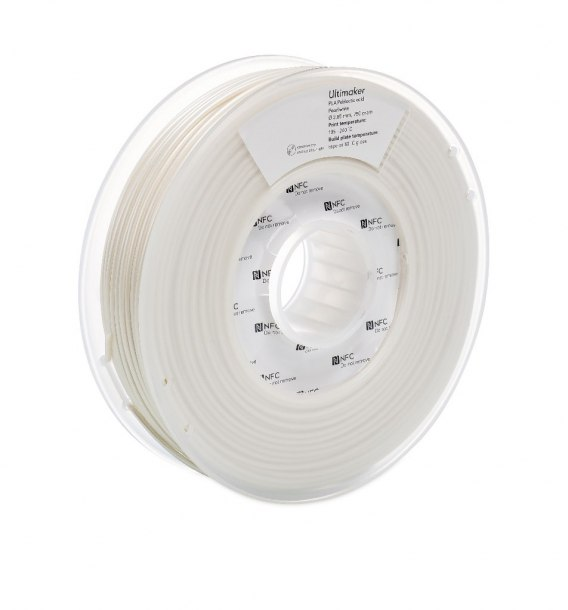 Filament Ultimaker 2,85 mm PLA Pearl White NFC