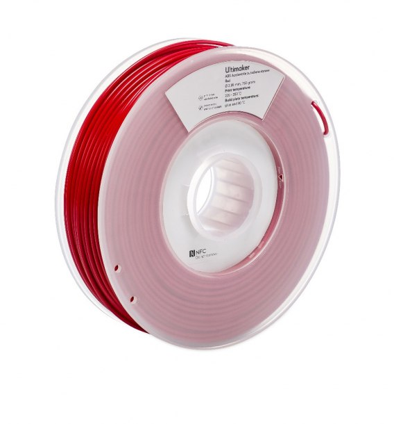 Filament Ultimaker 2,85 mm ABS Red NFC