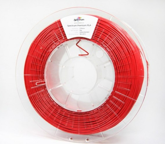 Spectrum Filaments smart ABS 1,75 mm 1 kg Czerwony Dragon Red