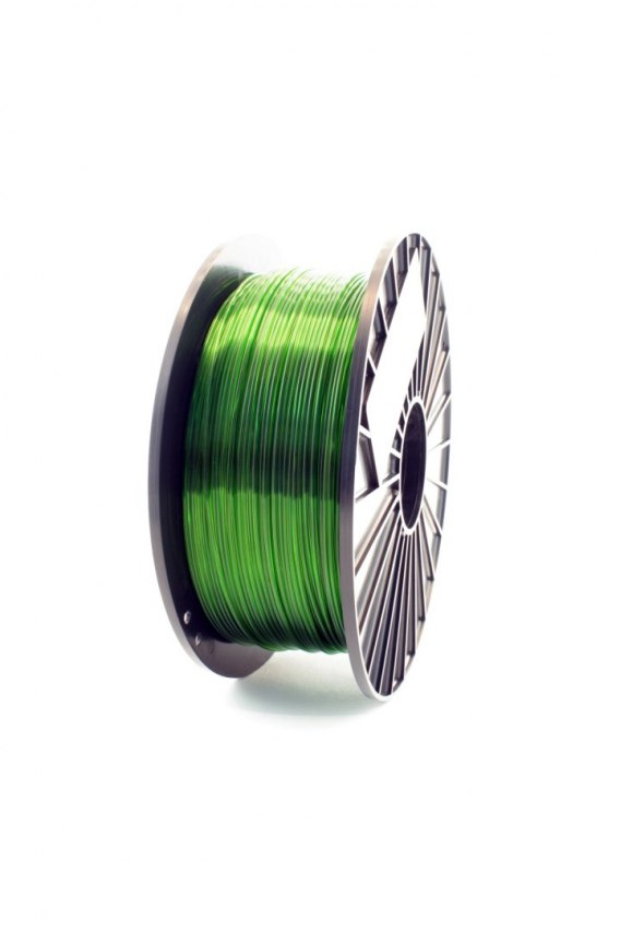 F3D Filament PETG zielony transparentny 0,2kg 1,75mm
