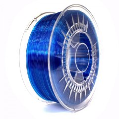 Filament Devil Design 1.75 mm PETG Super blue transparent