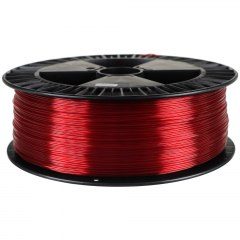 Filament PETG Devil Design 1,75 mm 2kg Czerwony rubinowy transparent